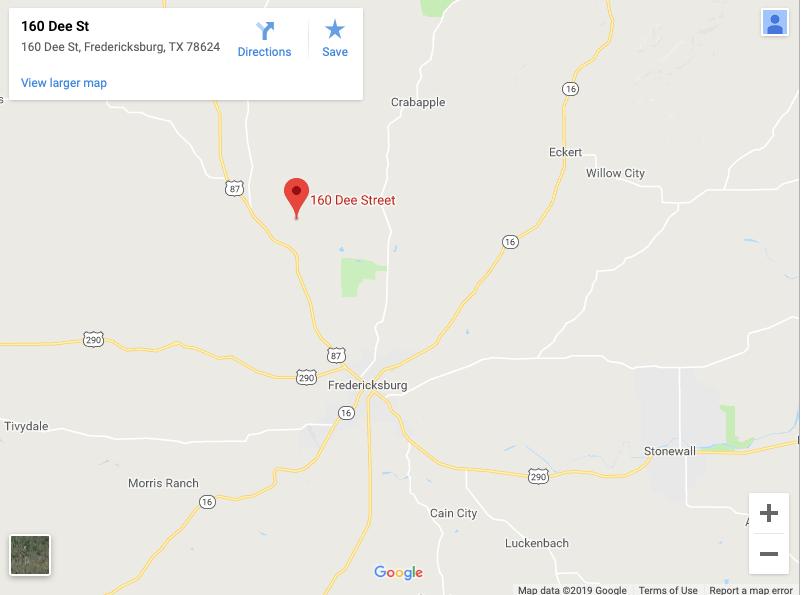 Fredericksburg Texas dent repair location