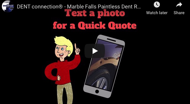 text to get a dent repair quote